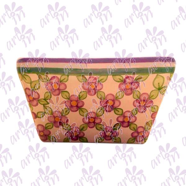 Jardinera Flores lilas 12x20 cm