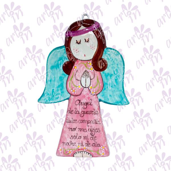 Angelita plana oración 19x12.5 cm