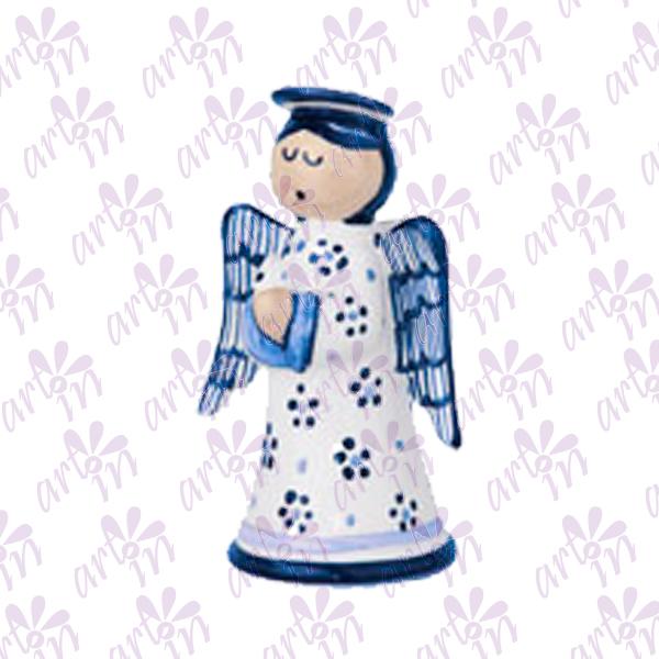 Angelito candelero chico talavera 13X17 cm