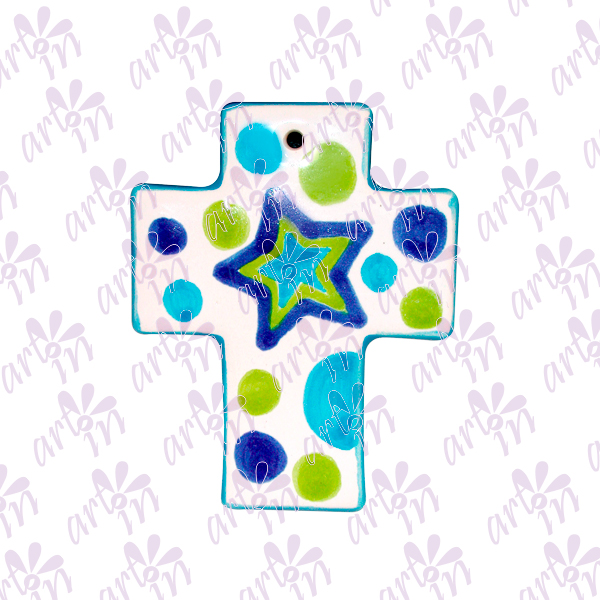Cruz mini estrella 8x6.5 cm