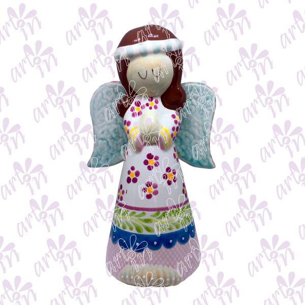 Angelita candelero grande colores 20x15 cm