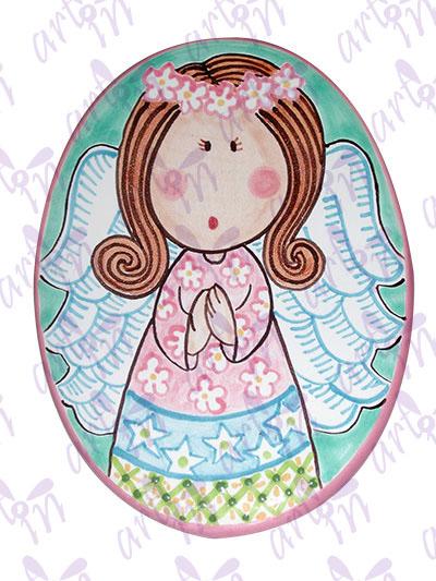 Medallón mediano angelita 13x9.5 cm
