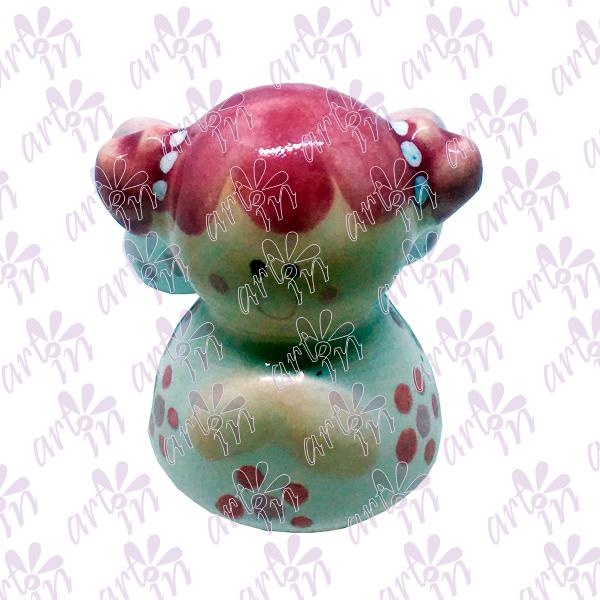 Angelita mini campana rosa 5x5 cm