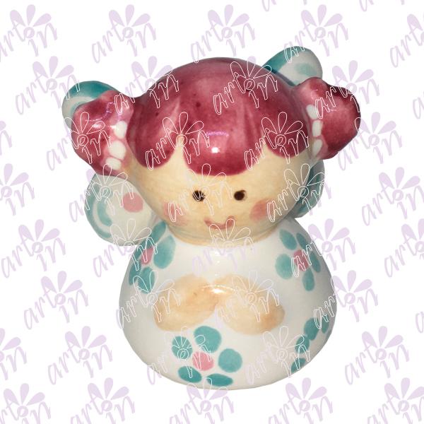Angelita mini campana rosa con menta 5x5 cm