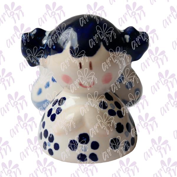 Angelita mini campana talavera 5x5 cm