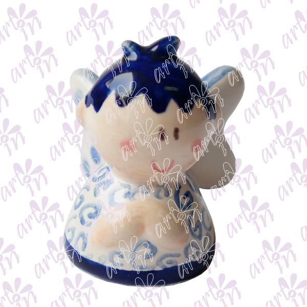 Angelito mini campana talavera 5x5 cm