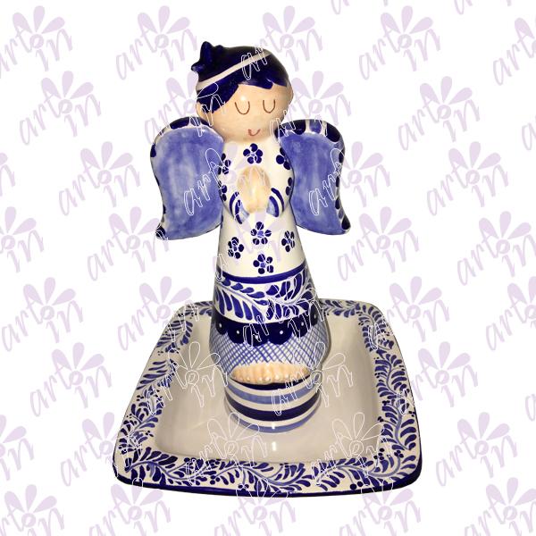 Centro de mesa angelito talavera 27x18 cm